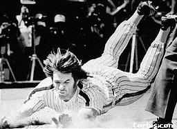 Pete Rose Sliding into Home