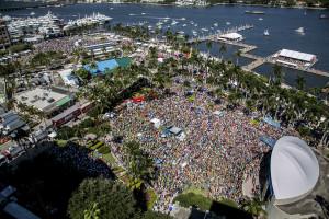 The final day of Sunfest.  (Greg Lovett/The Palm Beach Post)